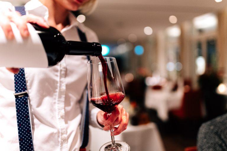 Wein im Restaurant Bloom Winterthur
